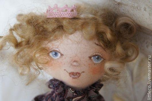 """Куклы тыквоголовки ручной работы. Ярмарка Мастеров - ручная работа. Купить Кукла текстильная. """"Кудряшка"""". Handmade. Тёмно-фиолетовый, подарок"""