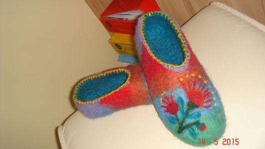 Обувь ручной работы. Ярмарка Мастеров - ручная работа. Купить wool slippers. Handmade. Wool slippers, wool slippers теплые