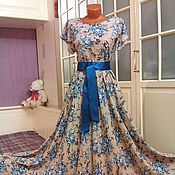 Одежда ручной работы. Ярмарка Мастеров - ручная работа Штапельное платье в пол Диана2. Handmade.