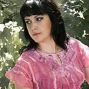 Одежда ручной работы. Ярмарка Мастеров - ручная работа Розовая блузка нуно-фелтинг. Handmade.