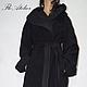 Верхняя одежда ручной работы. Ярмарка Мастеров - ручная работа. Купить Длинное шерстяное пальто/Модное пальто/F1370. Handmade. Черный
