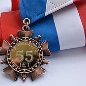 Медали ручной работы. Ярмарка Мастеров - ручная работа Атрибутика: Сувенирная  медаль  с лентой на заказ. Handmade.