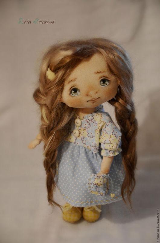 Коллекционные куклы ручной работы. Ярмарка Мастеров - ручная работа. Купить Неженка Яся. Handmade. Голубой, подарок девушке