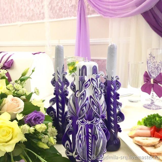 резные ручной работы, Свадебные свечи, Санкт-Петербург,  Фото №1