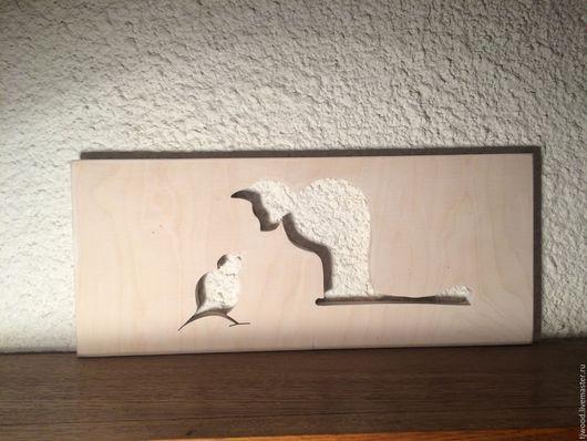 Элементы интерьера ручной работы. Ярмарка Мастеров - ручная работа. Купить Кот и птица. Handmade. Комбинированный, кот в подарок, подарок