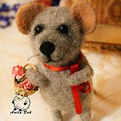 """Куклы и игрушки ручной работы. Ярмарка Мастеров - ручная работа Войлочная игрушка """"Мышонок Макс"""". Handmade."""
