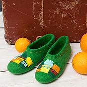 """Обувь ручной работы. Ярмарка Мастеров - ручная работа Тапочки """"Green style"""". Handmade."""