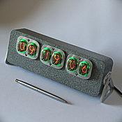 "Гаджеты ручной работы. Ярмарка Мастеров - ручная работа Ламповые часы""Aviator 12(цвет камень) + коробка. Handmade."