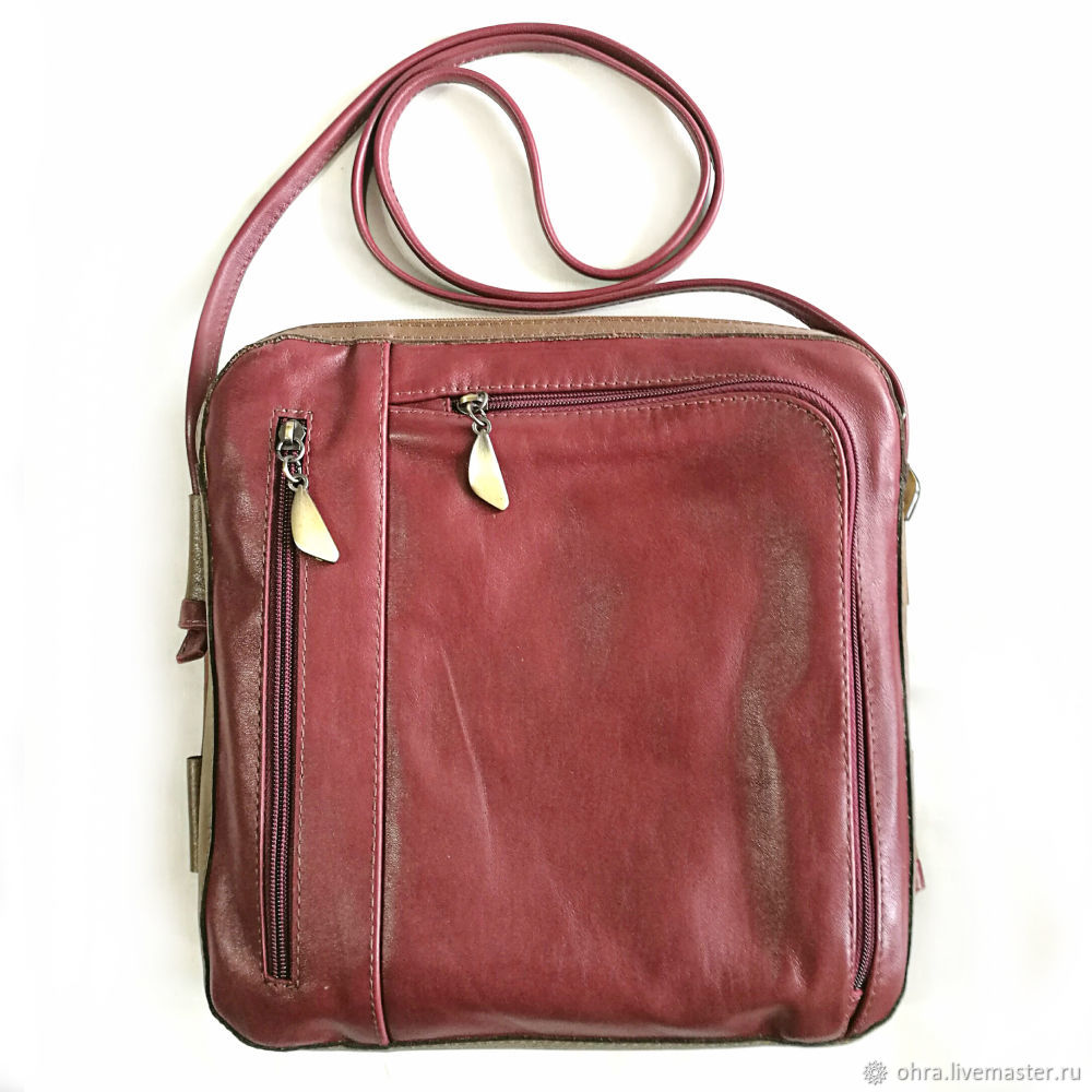 Handbag leather 'Inza', Classic Bag, Cheboksary,  Фото №1