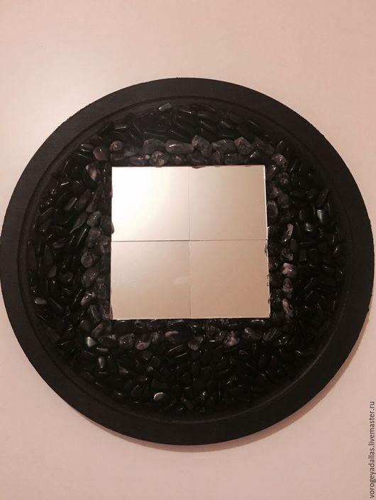"""Зеркала ручной работы. Ярмарка Мастеров - ручная работа. Купить Зеркало для обрядов и гаданий """"Магия"""". Handmade. Черный, обряд"""