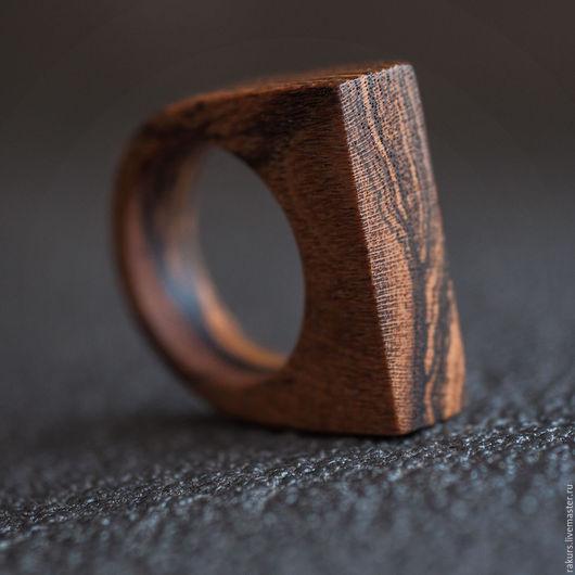 Кольца ручной работы. Ярмарка Мастеров - ручная работа. Купить Деревянное кольцо из бокоте Древо. Handmade. Коричневый, кольцо деревянное