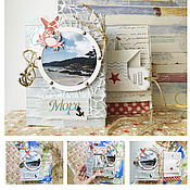 Подарки к праздникам handmade. Livemaster - original item Handmade photo album, the EP for a photo with the sea in a box. Handmade.