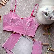 """Одежда ручной работы. Ярмарка Мастеров - ручная работа Комплект нижнего белья """"Немножко Барби"""":). Handmade."""
