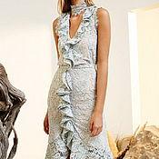 Одежда ручной работы. Ярмарка Мастеров - ручная работа Платье гипюр с воланом. Handmade.