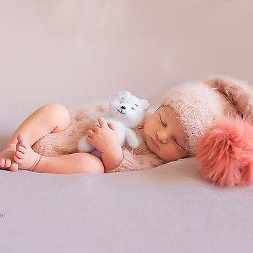 Товары для малышей ручной работы. Ярмарка Мастеров - ручная работа Пудровый комплект для фотосессии новорожденных Реквизит для фотосессии. Handmade.