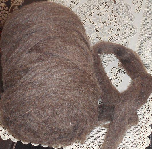 Валяние ручной работы. Ярмарка Мастеров - ручная работа. Купить шерсть  домашняя темная 900 г. Handmade. Темно-серый