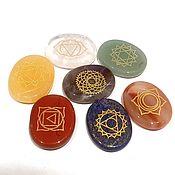 Фен-шуй и эзотерика handmade. Livemaster - original item Set of crystals: chakra set of 7 stones with engraving. Handmade.