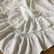 Для дома и интерьера handmade. Livemaster - original item White linen tablecloth