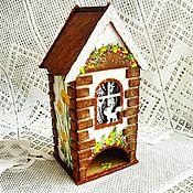 Для дома и интерьера ручной работы. Ярмарка Мастеров - ручная работа Чайный домик декупаж. Handmade.