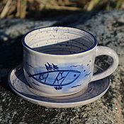 Чайные пары ручной работы. Ярмарка Мастеров - ручная работа Чайная пара Морские впечатления. Handmade.