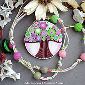 Pendants handmade. Livemaster - original item pendant from polymer clay. The series