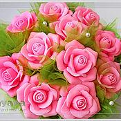 """Косметика ручной работы. Ярмарка Мастеров - ручная работа """"Светлана"""", корзина роз из мыла. Handmade."""