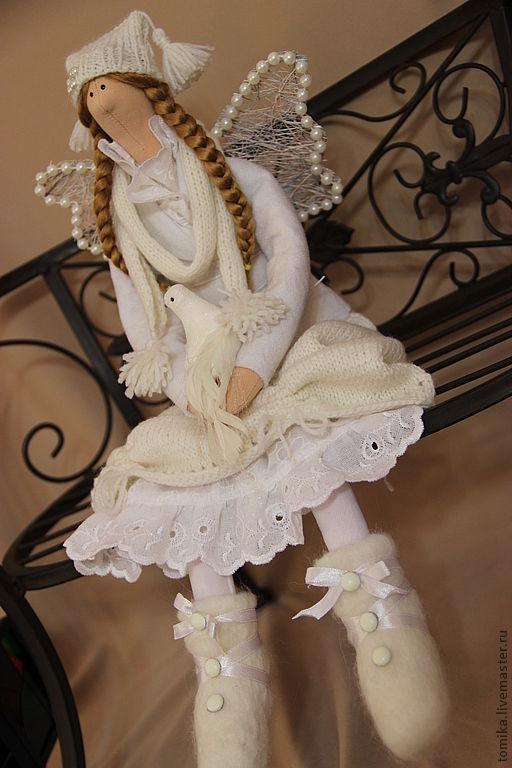 Куклы Тильды ручной работы. Ярмарка Мастеров - ручная работа. Купить БЛАНШ - зимний ангел. Handmade. Белый, кукла Тильда