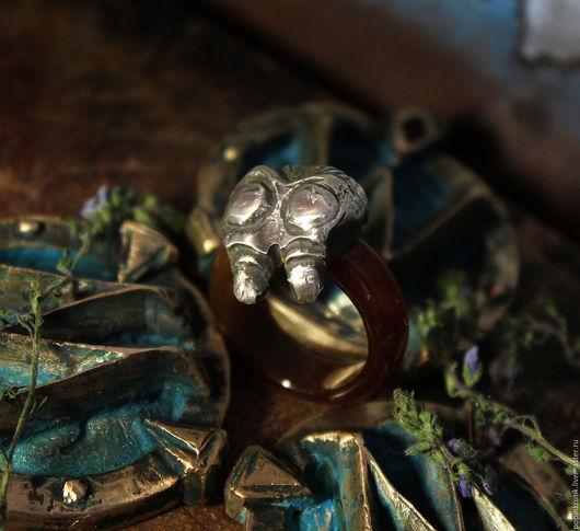 """Кольца ручной работы. Ярмарка Мастеров - ручная работа. Купить Кольцо """"Базилиуса"""" (VIII). Handmade. Комбинированный, кольцо серебряное, warcraft"""