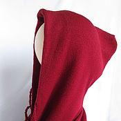Аксессуары ручной работы. Ярмарка Мастеров - ручная работа Капюшон с длинным шарфом меринос бордо. Handmade.