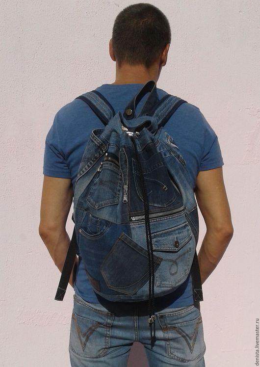 Рюкзаки ручной работы. Ярмарка Мастеров - ручная работа. Купить Рюкзак джинсовый Khayfa. Handmade. Рюкзак джинсовый, рюкзак для студента