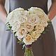 Свадебные цветы ручной работы. Ярмарка Мастеров - ручная работа. Купить Букет Сердце / Свадебный букет из роз в форме сердца. Handmade.