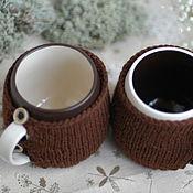 """Посуда ручной работы. Ярмарка Мастеров - ручная работа Кружка в свитере 0,5 л  """"Капучино"""". Handmade."""