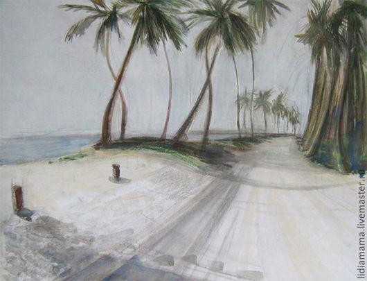 Картина. Доминикана. Пальмовый лес работа Ольги Петровской-Петовраджи