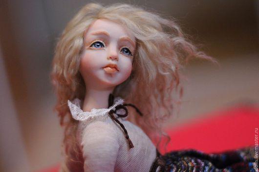Коллекционные куклы ручной работы. Ярмарка Мастеров - ручная работа. Купить Герда. Handmade. Бордовый, текстиль