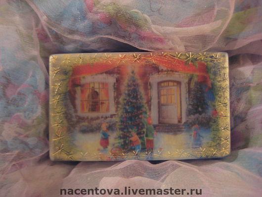 """Мыло ручной работы. Ярмарка Мастеров - ручная работа. Купить Мыло """" Новогоднее №3"""". Handmade."""
