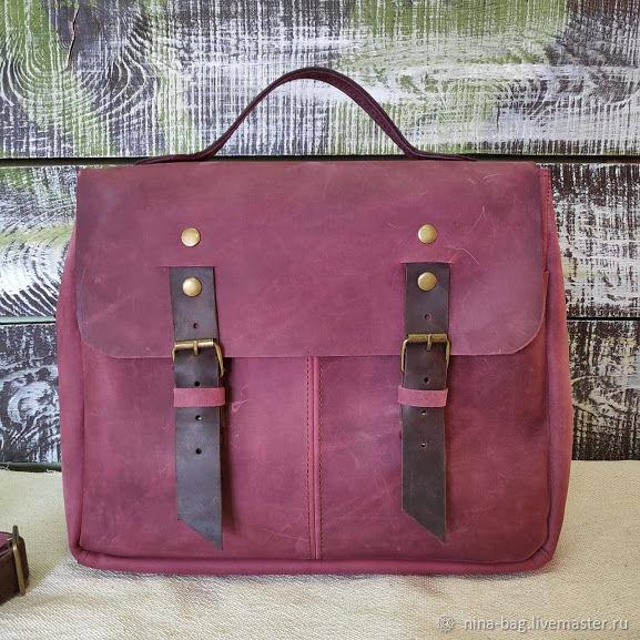 3b2f13c63fe1 Рюкзаки ручной работы. Ярмарка Мастеров - ручная работа. Купить Женская  кожаная сумка- портфель ...