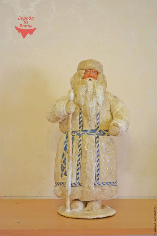 Реставрация. Ярмарка Мастеров - ручная работа. Купить Дед Мороз советский. Вата. Реставрация. Handmade. Белый, старый мороз