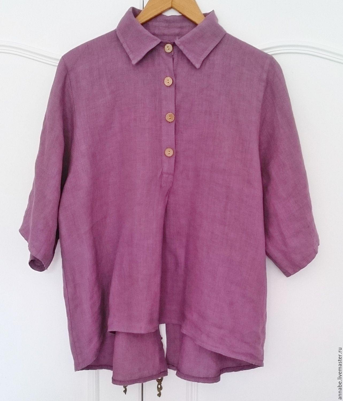 Блузка лен купить