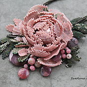 Украшения ручной работы. Ярмарка Мастеров - ручная работа Подвеска ,,  Даже зимой пахнут розы малиной ,,. Handmade.