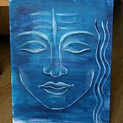 Картины и панно ручной работы. Ярмарка Мастеров - ручная работа Медитация Шивы. Handmade.