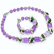 Украшения handmade. Livemaster - original item Set of amethyst, pearl
