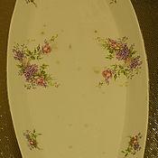 Винтаж handmade. Livemaster - original item Vintage dish from Mr. Kuznetsov M.. lilacs and roses. Handmade.