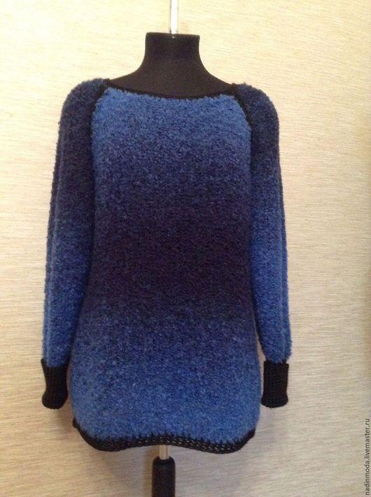 Кофты и свитера ручной работы. Ярмарка Мастеров - ручная работа. Купить Пуловер трендовый. Handmade. Тёмно-синий, мода 2016