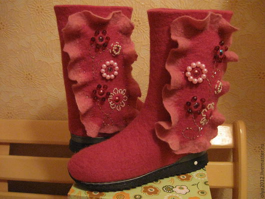 Обувь ручной работы. Ярмарка Мастеров - ручная работа. Купить Валенки. Handmade. Обувь ручной работы, валенки, валенки для улицы