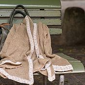 Одежда ручной работы. Ярмарка Мастеров - ручная работа Жакет вязаный из льна со старинными кружевами. Handmade.