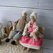 Куклы и игрушки ручной работы. Ярмарка Мастеров - ручная работа Семья Сплюшкиных,дедушка и бабушка. Handmade.