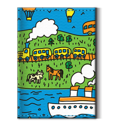 Bags & Accessories handmade. Livemaster - handmade. Buy The image (business card) 'the Journey'.Blue, canvas, figure