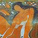 Люди, ручной работы. Картина Купальщица выполненная на хб ткани в технике горячего батика. Мария. Ярмарка Мастеров. Купальщица картина