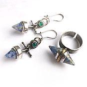 Украшения handmade. Livemaster - original item Set with lapis lazuli. Handmade.