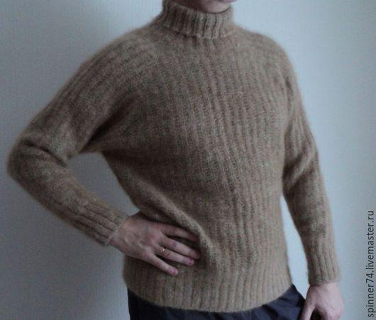 Кофты и свитера ручной работы. Ярмарка Мастеров - ручная работа. Купить Свитер из собачьей шерсти. Handmade. Бежевый, свитер мужской